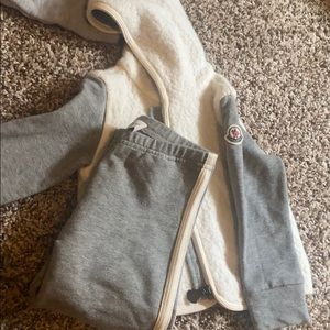 Infant Gray and cream moncler set brand new! 18/24
